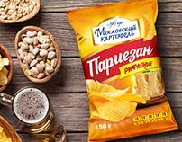 Potato chips, packaging design