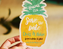 Pineapple Save The Date Collection