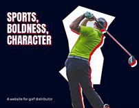 Golf Distributor Website