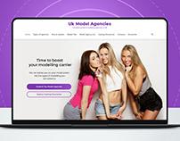 UK Modelling Agencies - Website UI Design