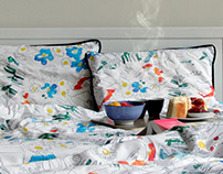 Duvet Cover with Koi Pattern