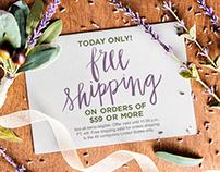 Hobby Lobby Free Shipping Campaign