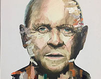 Anthony Hopkins / Acrylic Paint