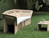 HIGH FIVE - roomy garden bench, very comfortable