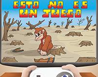 Afiche publicitario ambiental