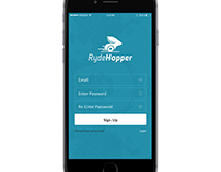 Rydehopper, Peer-to-Peer ride sharing app