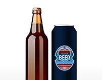 Design for Bottle, can, label