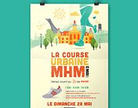 Affiche la course urbaine MHM