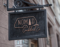 Nomad Cocktail Co Logo Comps