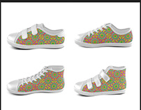 Colorful Geometric Modern Kids Shoes