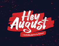 Hey August Font Free for commercial use