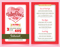 ValenDine's Day Menu