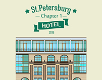 "Illustration ""Travel to St. Petersburg. Hotel""."