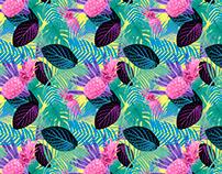 Criação de Estampa - Pink Pineapple