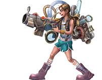 MachineGun Girl - 2D Character Animations Pack