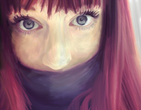 Digital Painting Selfportrait