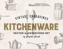 Kitchen Tools - Vintage Engravings Set