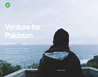 Venture For Pakistan - Website