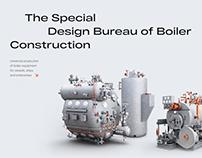 SKBK — Industrial Website — UX/UI Design Web