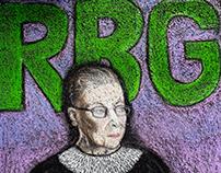 Nororious RBG Ruth Bader Ginsburg Sidewalk Chalk