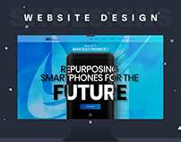 Max Electronics Website Design