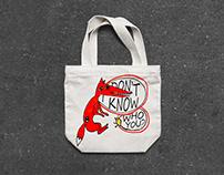 Bag with crazy fox