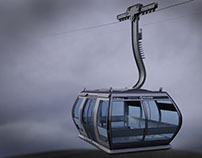 3d cable car