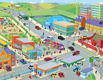 Illustration for children's road safety resource