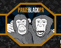 Rótulo - Cerveja Panzé Black IPA