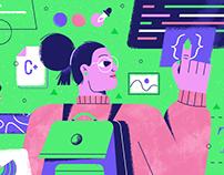 SuperHi — Blog Illustrations