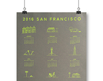 2016 Silkscreen San Francisco Calendar