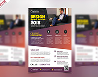 Free PSD : Conference Announcement Flyer PSD Template
