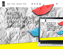 Museum of Contemporary Art Zagreb - website