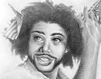 Daveed Diggs in metalpoint