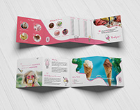 Ice Cream Shop 4 FOLD SQUARE BROCHURE