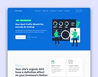 Tack Media SEO Landing Page UI Design