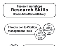 Tulane Libraries Workshops Flyers Fall 2018