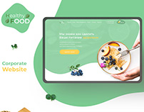 Website for organization which deals healthy food