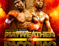 Pacquiao Mayweather Flyer PSD