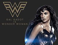 Gal Gadot as Wonder Woman- UI/UX Design