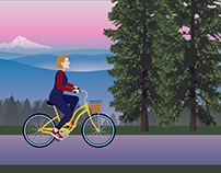Motion Graphics - Bicycle Animation
