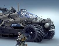 Photo bash vehicle design