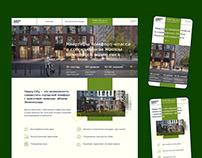 Главная страница сайта ЖК в рамках стажировки DL Boost