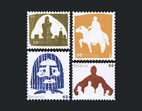 Postage stamps. Belarusian mythology