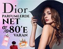 Parfüm Sitesi Banner Çalışmaları