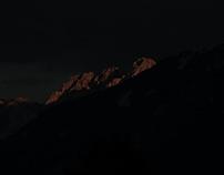 Sunset over Kotschach