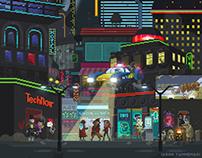 Genuine Human Cyberpunk 2015 Pixel Art