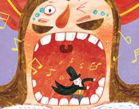 Illustration for Children 's Book-怪国王