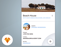 Real Estate - Day79 My UI/UX Free SketchApp Challenge