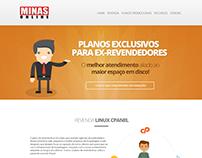 Landing page promocional para Minas Online